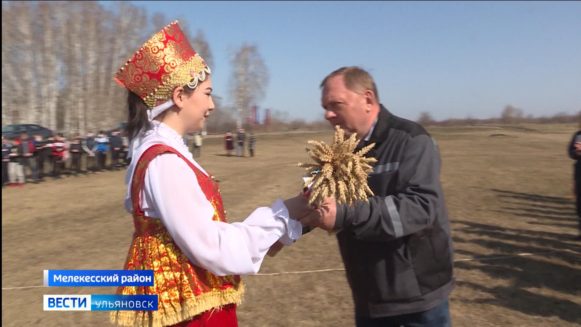 На полях рязановского сельскохозяйственного техникума в Мелекесском районе вспахали первую борозду.